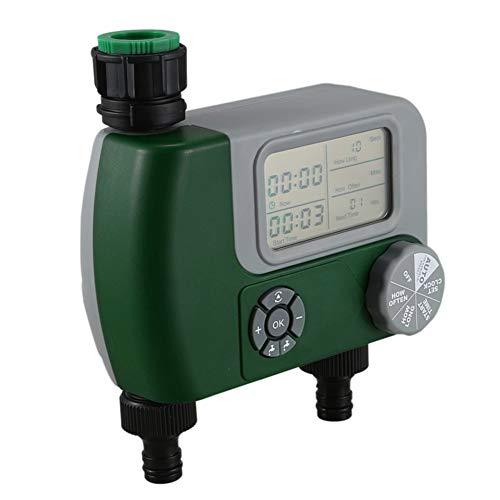 Programador de riego automático para computadora con interfaz doble para riego de jardines aplicable en sistemas de riego por aspersión y goteo, cubos de lluvia, alimentación de agua para mascotas