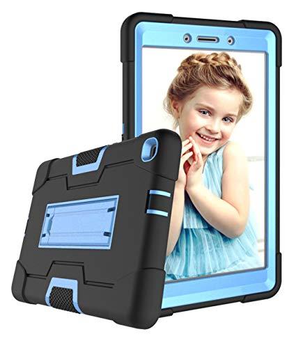 Galaxy Tab A 8.0 Hülle 2019, Elepower Heavy Duty Rugged Kickstand Full Body Hybrid Stoßfest Drop Protection Cover für Samsung Galaxy Tab A 8.0 2019 SM-T290/SM-T295, Schwarz/Blau