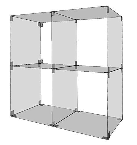 Shop Office Store GmbH Glassteckvitrine Würfel 40 x 40 cm Glasregal Glassteckvitine Steckvitrinen Steckvitrine Glasregal Glasregale Vitrine Vitrinen