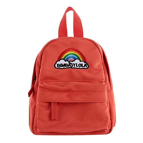 MINISO ミニカラーストレージバッグ 容量オーガナイザー 学生用バックパック(コーラルレッド)