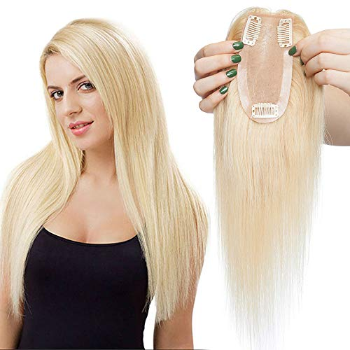 TESS Pony Haarteil Echthaar Extensions Clip in Toupee Haarverlängerung Lace Front Closure Toupet für Frauen 14