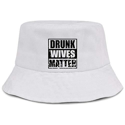 DFHGFJGH Cappello da Pescatore Drunk Wives Matter Unisex Fisherman Hats Fishing Hunting Sun Hat