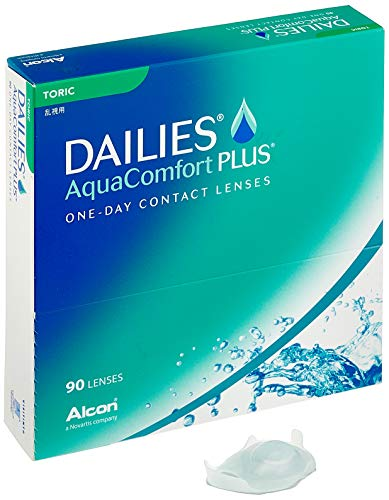 Dailies AquaComfort Plus Toric Tageslinsen weich, 90 Stück, BC 8.8 mm, DIA 14.4 mm, CYL -0.75, ACHSE 10, -1 Dioptrien