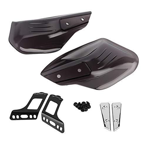 Gorgeri オートバイハンドガード、防風 防寒 ハンドルバープロテクター ナックルガード黒(ダークブラウン)