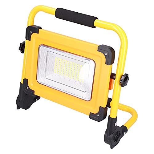 Annadue Luz De Trabajo LED De 100W 8000LM, Luces De Inundación LED USB con Energía Solar con Banco De Energía 14000MAH, para Montañismo Al Aire Libre, Camping, Senderismo, Pesca