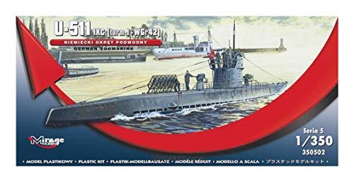 Mirage Hobby 350502, 1: 350 échelle, U-511 (FSI tour, je sous-marin allemand + Nebelwerfer WGr42), kit de modèle en plastique