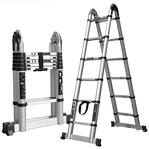 MTYLX Ladders,Telescopic Ladder,Multi-Purpose Aluminium Telescoping Ladder Extension Extend Portable Ladder Foldable 2.2+2.2 (Straight Ladder 4.4M)