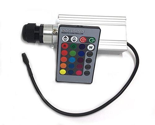 RGB LED 3 Watt Sternenhimmel Beleuchtung Apus Star DIMMBAR in Glasfaser Optik, 200 Lichtfasern mit Infrarotfernbedienung und 16 Farben, Bausatz Einbau Set einbaufertig