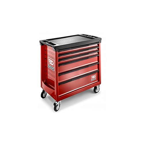 Facom Roll - Carro de taller (6 cajones, 4 módulos por cajón), color rojo