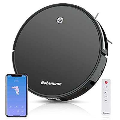 Robomann380 Smart Navigating Robotic Vacuum Cleaner with 2000Pa Strong Suction, Alexa & APP Connectivity for Pet Hair, Carpet & All Types of Floor