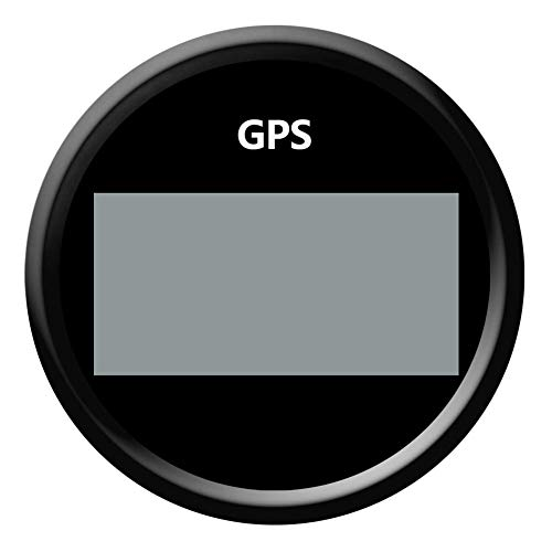 Nrpfell 85Mm Digitale Geschwindigkeits Messer Boot 0-999 Knoten Mph/H Einstellbare GPS Geschwindigkeits Messer Fit Boot Motorrad Auto Schwarz