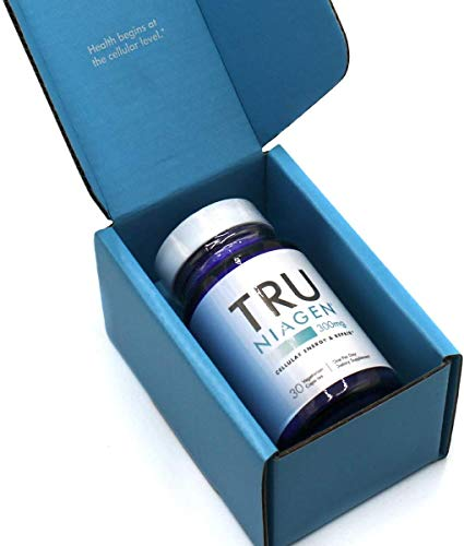 41yTMaGhAGL - TRU NIAGEN NAD+ Booster Supplement Nicotinamide Riboside NR for Energy Metabolism, Cellular Repair & Healthy Aging (Patented Formula) More Efficient Than NMN - 30 Count - 300mg (1 Month / 1 Bottle)