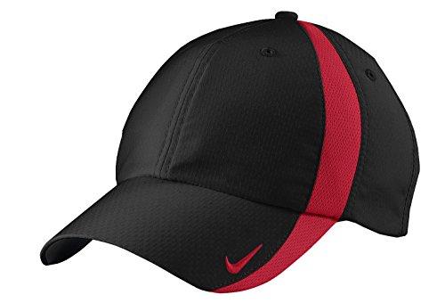 NIKE Sphere Dry Hat Mens Adjustbale Cap 247077 -Black-Red