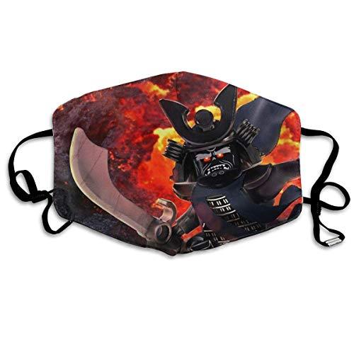 Zachte maskers Ninjago Masters of Spinjitzu filmkarakter Devil Poster stof mondmaskers gezicht Earloop Maskers allergene maskers