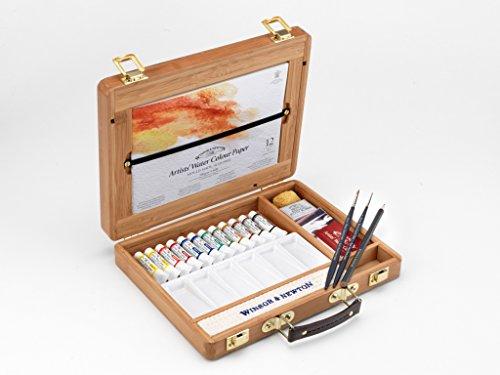 Winsor & Newton - Selección de 12 colores de agua, caja de bambú