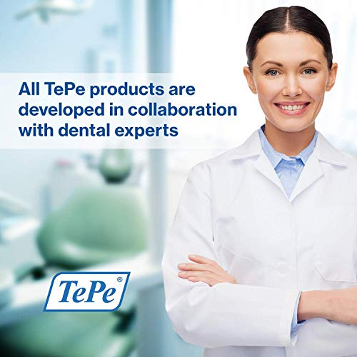 TePe Compact Single Tuft brush for precision cleaning of difficult areas, such as braces, gum line and implants - 1 x TePe Compact brush