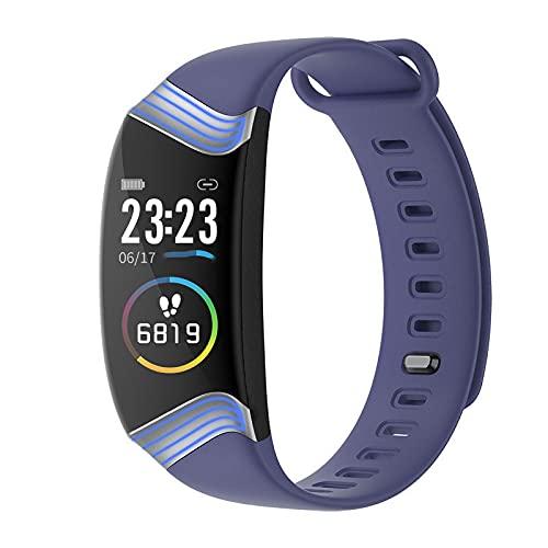 PYAIXF Pulsómetros, Impermeable Monitor De Pulso Cardiaco Rastreador De Fitness Podómetro por Teléfono Inteligente 3 Colores Pulsera De Fitness para Niños-Purple