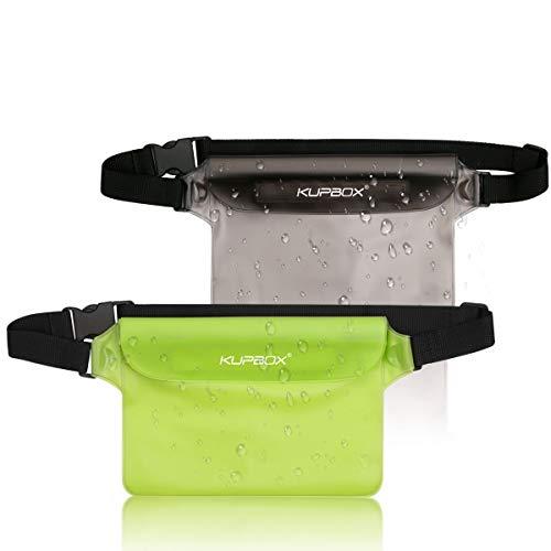 kupbox 2 Stück wasserdichte Tasche mit Verstellbarem Gurt wasserdichte Beutel,100% wasserdichte Handytasche Handyhülle Schutzhülle für Wassersport/Strand/Schwimmen/Bootsfahrten/Skifahren usw.