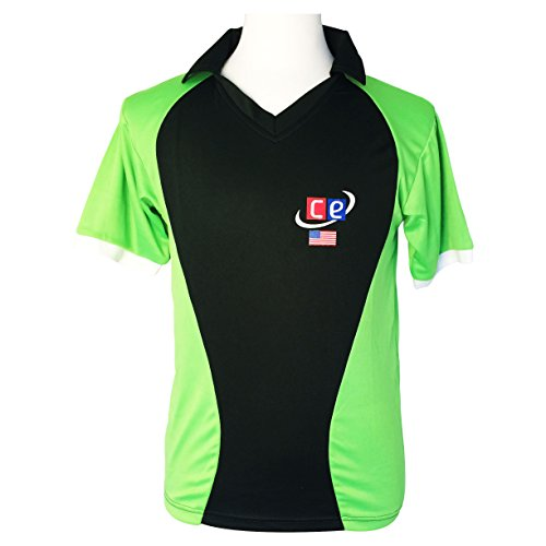 CE Colored Cricket Uniform Pakistan Colors - Pants and Shirt by Cricket Equipment USA (Extra Extra Large)