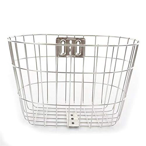 Buy Discount DEPRQ Bicycle Basket Stainless Steel Bicycle Bike Cycle Front Metal Mesh Basket Carrier...