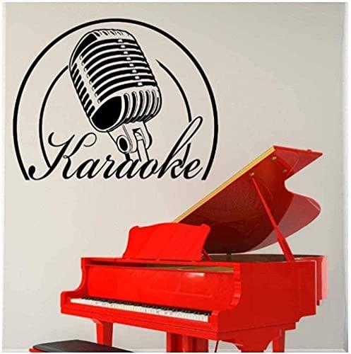 Pegatinas De Pared Karaoke Música Decoración De La Pared Diseño De Arte Decoración Del Hogar Vinilo Calcomanía De Pared 75 X 58 Cm