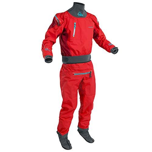 Palm 2019 Mens Atom Back Zip Kayak Drysuit + CON Zip Flame/Chilli 12380 Drysuit Size - M