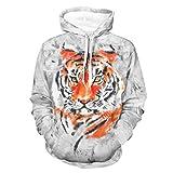 Ink Tiger Sweater Sudaderas de moda suave con bolsillo canguro bifurcado para Wokers Sporters para gimnasio deporte blanco s