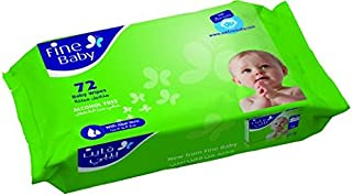 Fine Baby wet wipes with aloe vera 72 Count