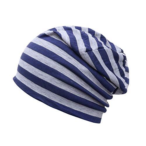 FRCOLOR Bonnet D'été Bonnet en Coton Bonnet Ample Chapeau de Chimio Turban Bonnet de Nuit Mince Casquette de Sport pour Hommes Femmes Couleur 2
