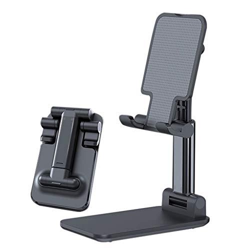 Handy Ständer, Winkelhöhe Verstellbar (0-70mm) Handy Halterung, Handyhalter Tisch Ständer, Handy Halter Ständer kompatibel mit iPhone 8/Plus/XS/11/Pro,Samsung,Huawei,4-8 Zoll (Schwarz)