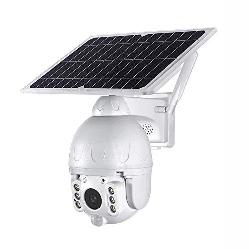 ZJ 1080p HD 4G Cámara Solar De Bajo Consumo De Energía De Dos Vías Audio DE Audio DE Audio Alarma De Intrusión WiFi Cámara Monitoreo Al Aire Libre Cámara Impermeable(Color:4G 128G)