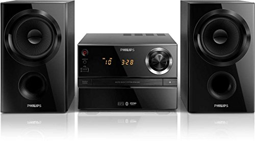 Philips BTM1360 Mini Stereoanlage (mit Bluetooth, CD, MP3, Audioeingang, 30 Watt) schwarz