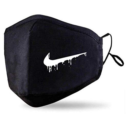 Black Face Mask With 2 Free PM2.5 Filters (Washable Durable & Reusable) Custom Nike Drip Face Cover