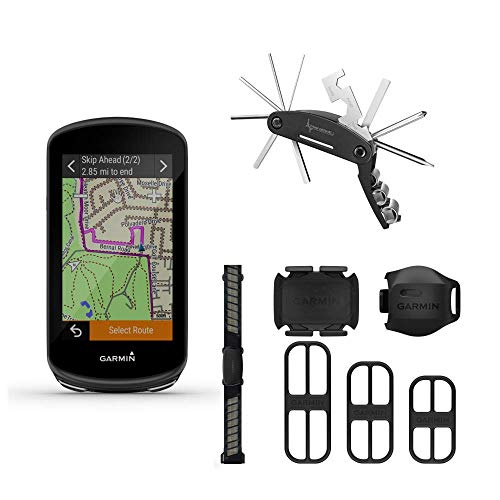 Garmin Edge 1030 Plus GPS Cycling Computer, On-Device Workout Suggestions, ClimbPro Pacing Guidance with Included Wearable4U Bike Multi Tool Bundle