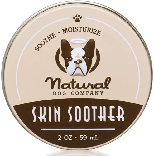 Natural Dog Company Skin Soother | Kalmerende huidcrème, biologische, veganistische geneeskrachtige balsem, hot spots, bacteriële folliculitis, dermatitis, alopecia, rood, voor droge en jeukende huid, 2oz/59 ml