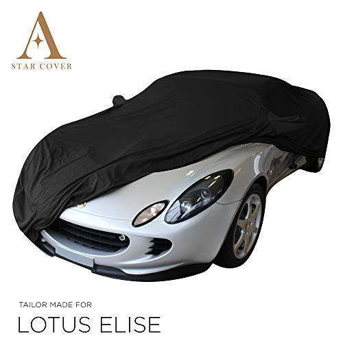 Star Cover Funda DE Exterior Lotus Elise con Bolsillos para LOS RETROVISORES | NEGROCUBIERTA DE Coch