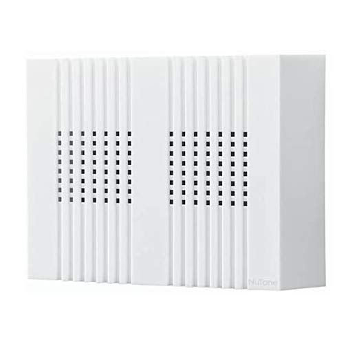 BROAN-NuTone LA126WH Compact Classic Design Decorative Wired Two-Note Door Chime, White