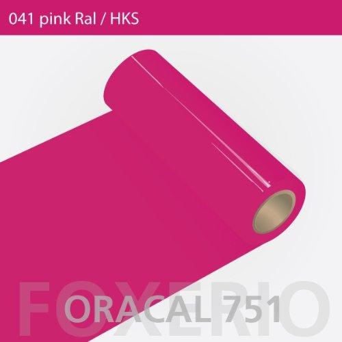 Orafol - Oracal 751 - 31cm Rolle - 5m (Laufmeter) - Pink / hochglänzend, A169oracal - 751 - 5m - 31cm - 02 - Pink - Autofolie / Möbelfolie...