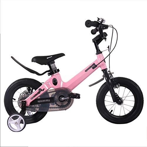 """BAICHEN Kinderfahrräder,Kinderfahrrad 4 Farben, in Größe 12\"""", 14\"""", 16\""""18\"""",mit Stabilisatoren Geeignet für Kinder von 2 bis 12 Jahren,Pink,12in"""