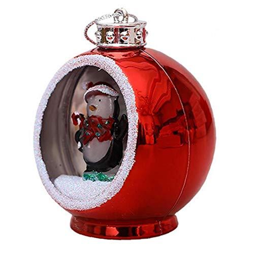AMOYER 1pc Weihnachtskugeln Kugel Glasschmuck Lichtern Weihnachtsbaum, Weihnachtskugel Hängende Verzierung Für Partei-weihnachtsschmuck