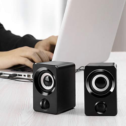 YDKJ Surround Stereo PC-Lautsprecher, Multimedia-Lautsprecher mit Kabel Stereo-USB-Stromversorgung, geeignet für PC/Laptop/Smartphone