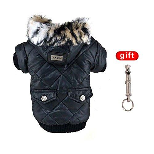 Balai Warmer Hundemantel mit Kapuze, dicke Winterjacke, für kleine Hunde, wasserdicht
