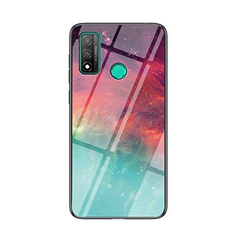 MadBee Funda para Huawei P Smart 2020 [con Protector de Pantalla],9H Cristal Templado [Cielo Estrellado] + Borde de TPU Silicona Suave Fundas Case Cover (Cielo Estrellado Color)