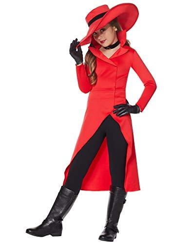Spirit Halloween Kids Carmen Sandiego Costume   OFFICIALLY LICENSED