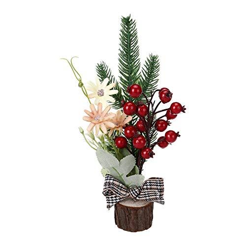 BBQQ - Mini árbol de Navidad para ventana, regalo de Navidad, decoración de árbol de Navidad, decoración de árbol de Navidad, decoración de árbol de Navidad, decoración para la familia