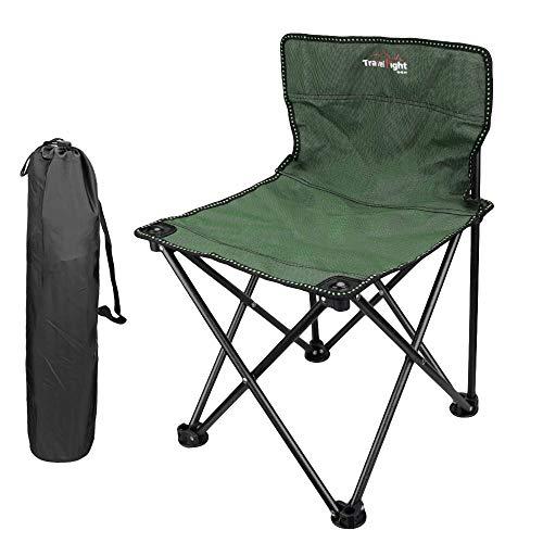MAGARROW アウトドアチェア 折畳む椅子 ラウンジチェア 折りたたみ椅子 釣り キャンプ用品 軽量 収納ケース付き 携帯便利 (グリーン)