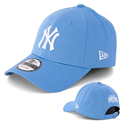 New Era Baseball Cap Basecap Herren Limited Edition mit Extra Team Stickerei auf Rückseite NFL, NBA, MLB Mütze 9Forty Snapback Yankees, Bulls, Dodgers, Lakers, Sox (New York Yankees Sky Blue)