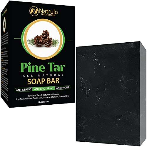 Natrulo All Natural Pine Tar Soap Bar 4oz Antibacterial Antiseptic...