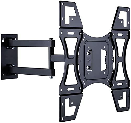 Soporte de montaje en pared para TV Soporte giratorio inclinable con brazo articulado de movimiento completo Se adapta a televisores de pantalla plana LED de 26 'a 55' de hasta 400 x 400 mm y 66 libr