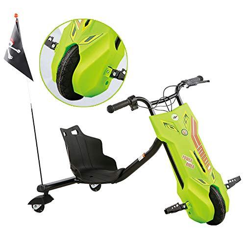 Fly 360 Electric Drift Dreirad Elektro Motor Dreirad Mit Scheinwerfern ABS-Material, Bürstenloser Hoch- Und Niedriggeschwindigkeitsmotor Kinder Jungen Und Mädchen, Ages 6 Years+